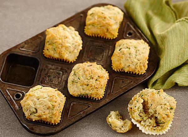 Muffins aux Courgettes et au Fromage