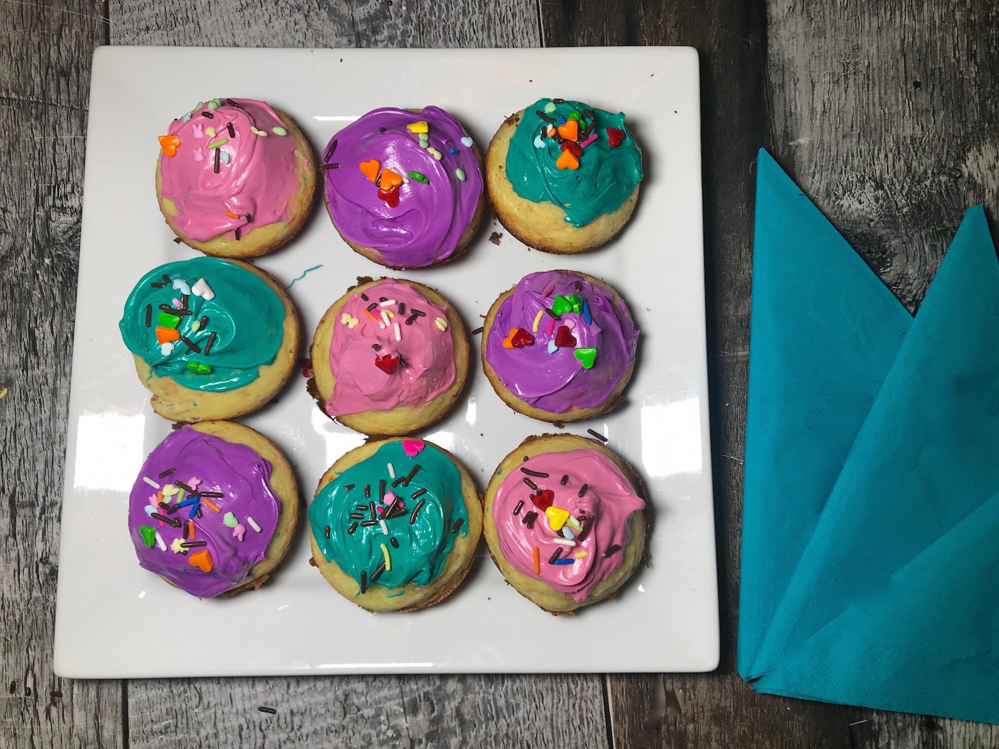Muffins Colorés de Mamie Jo et Maély