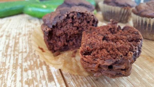 Muffins Moelleux au Chocolat & Zucchini