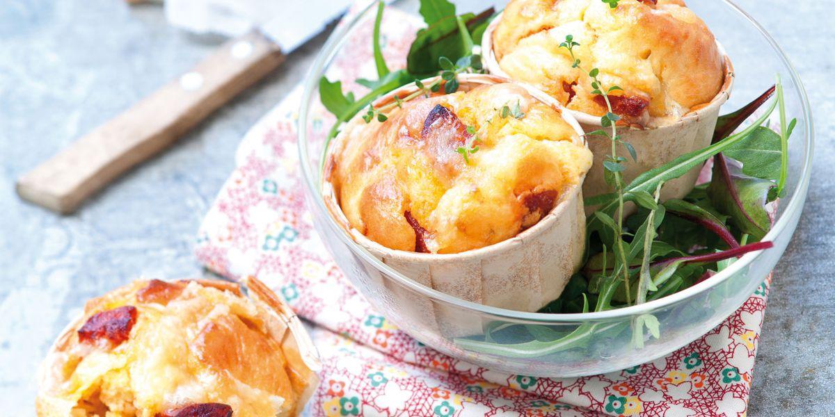 Photo Recette Muffins Moelleux au Chorizo et à L'emmentaler