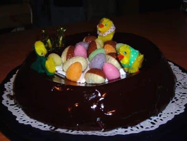 Nid de Pâques avec Glaçage Recette Facile de Pâques