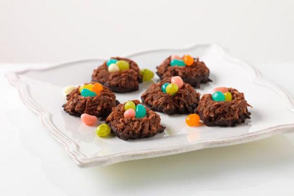 Photo Recette Nids à la Noix de Coco Chocolatés