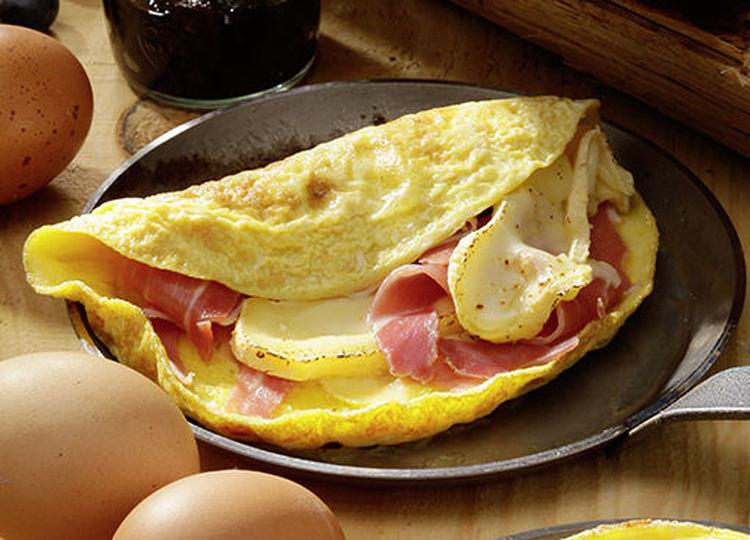 Photo Recette Recette Omelette au Reblochon et au Jambon de Montagne