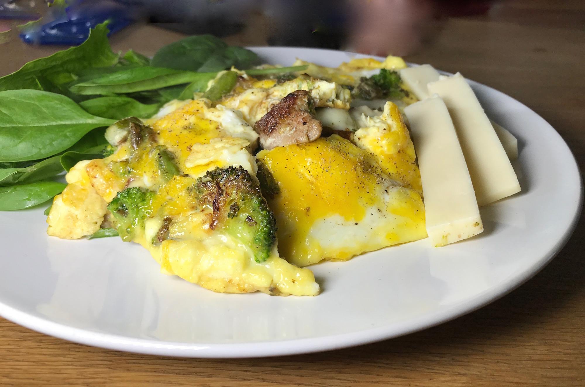 Photo Recette Omelette aux Épinard avec Lanière de Porc