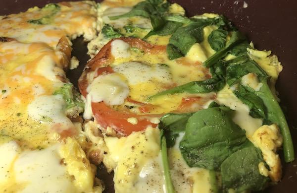 Omelette Poivron Rouge aux deux Fromage 12