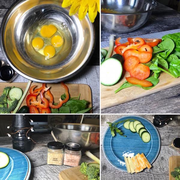 Omelette Poivron Rouge aux deux Fromage 14