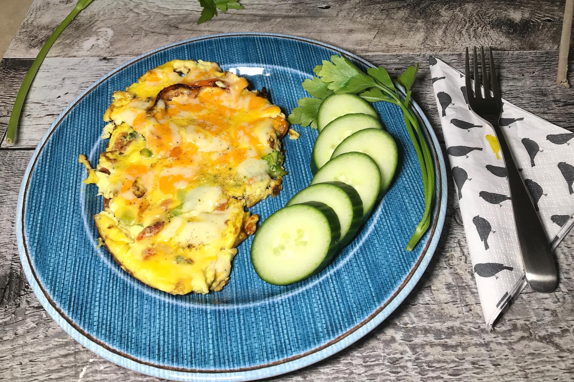 Photo Recette Omelette Poivron Rouge aux deux Fromages