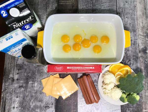 Omelette Saucisses et Double Fromage