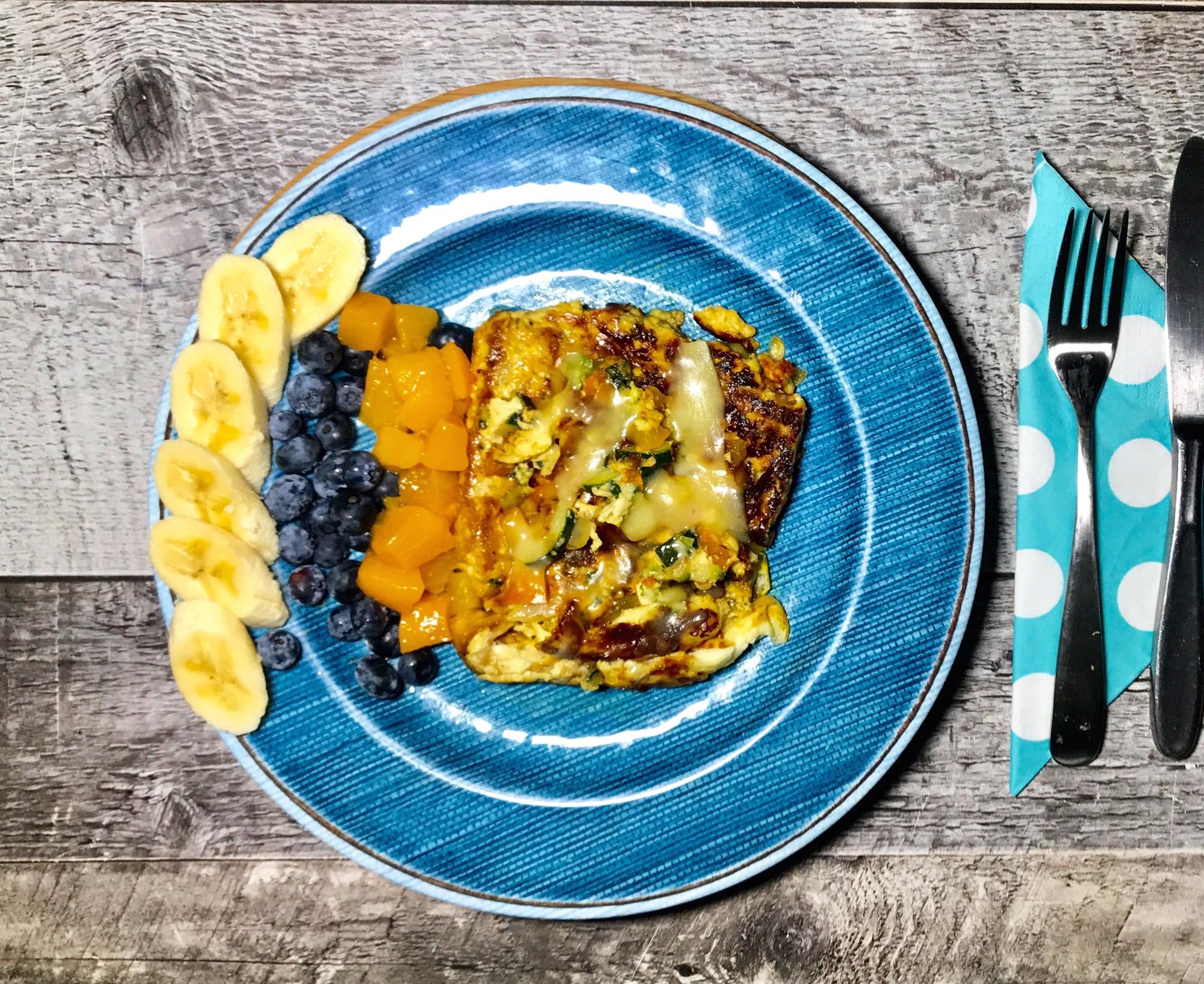 Photo Recette Omelette Toastée aux Légumes et Fromage