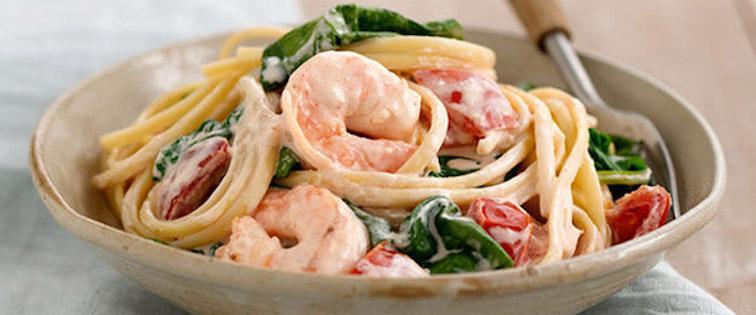 Photo Recette Pâtes aux Crevettes en Amour
