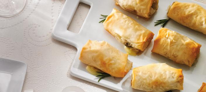 Pâtisseries au Brie aux Champignons et au Romarin
