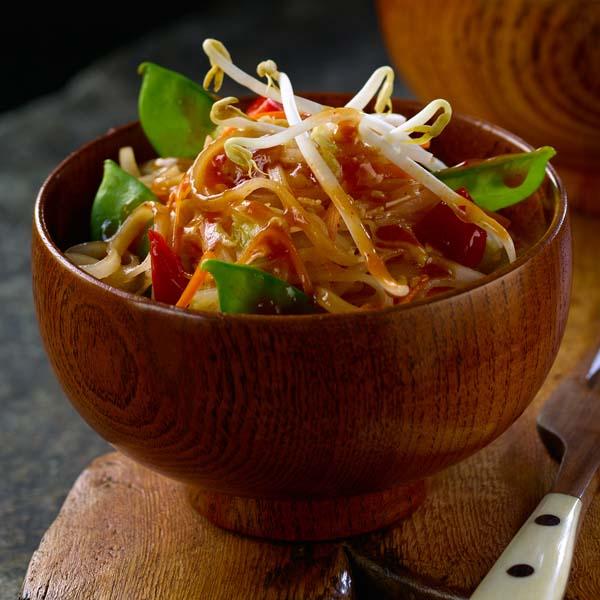 Pad Thaï aux Légumes avec Pois Mange-Tout