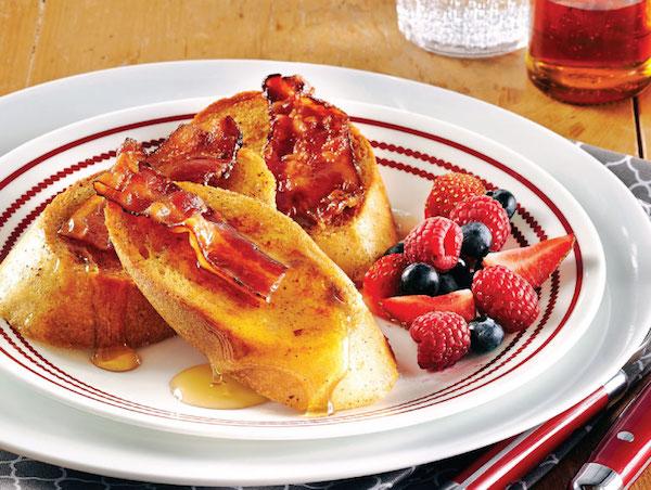 Photo Recette Pain Doré au Bacon et à la Cassonade