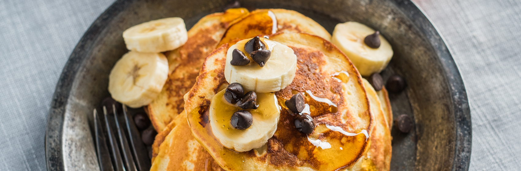 Photo Recette Pancakes Banane Érable et Fromage Ricotta