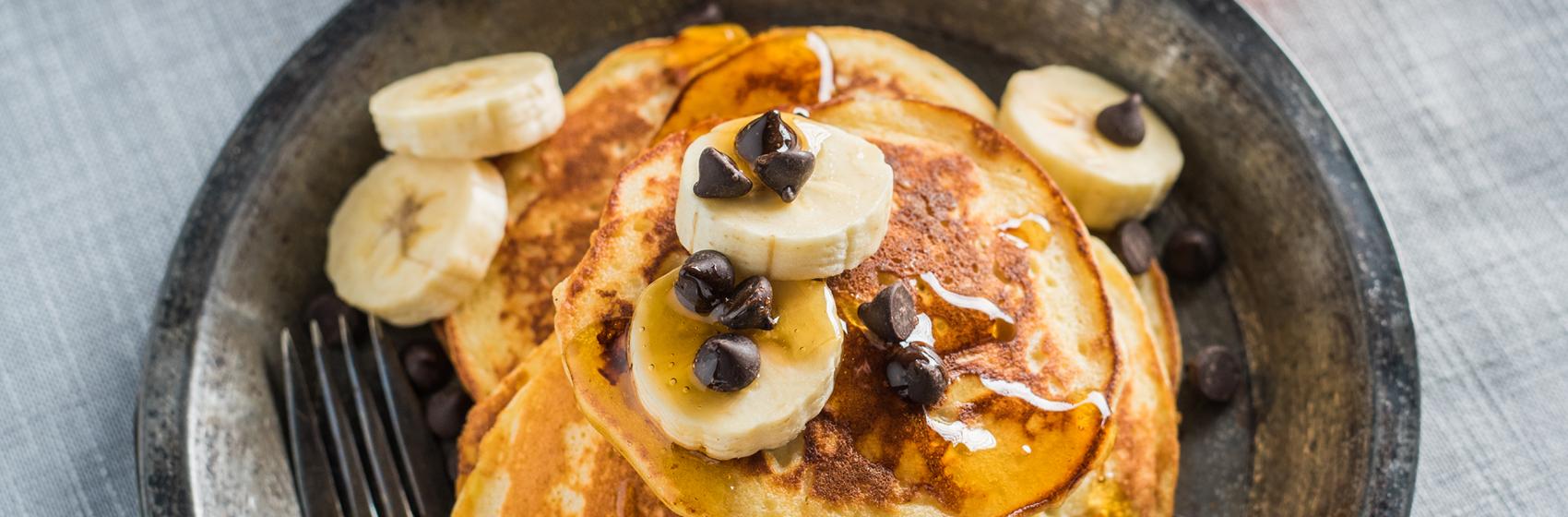 Pancakes Banane Érable et Fromage Ricotta