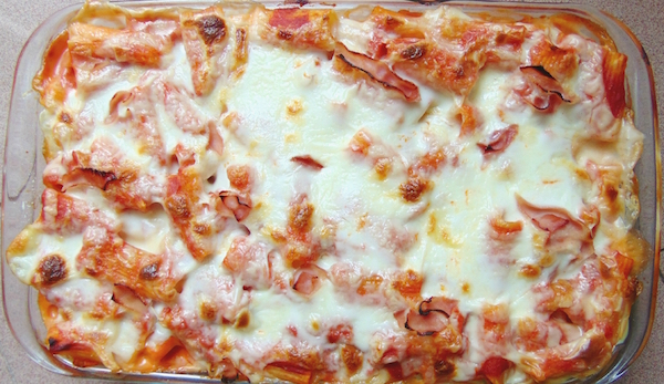 Pâtes au Four, jambon, Béchamel, Parmesan / Pasta al forno