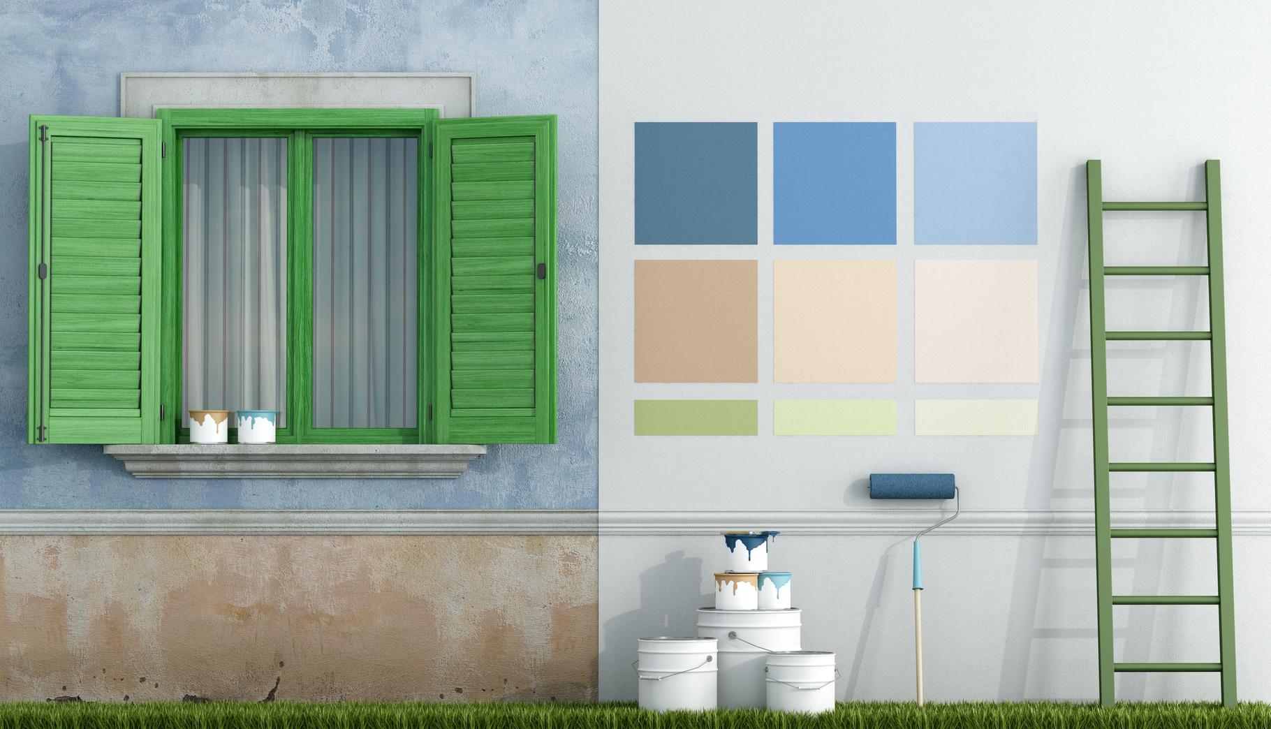 Choisir les Peintures Destinées à L'extérieur de votre Maison