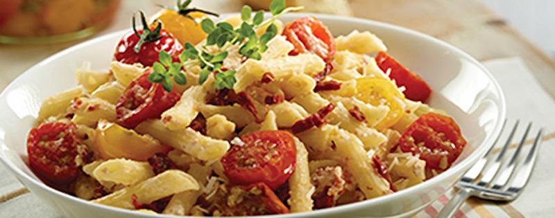 Penne à la Ricotta et aux Tomates Confites