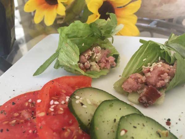 Petite Entrée Jambon et Légumes du Jardin