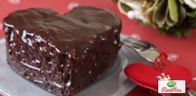 Photo Recette Petits Gâteaux au Chocolat en Forme de Cœur