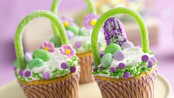 Petits Gâteaux Paniers de Pâques