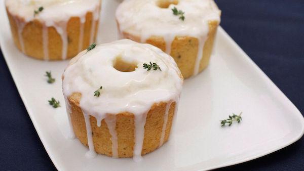 Photo Recette Petits Gâteaux à la Fleur D'oranger et Thym Citron