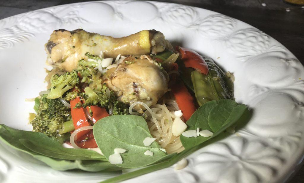 Pilons de Poulet Vermicelles et Légumes