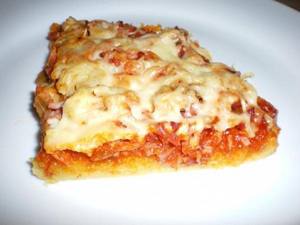 Pizza à la Pâte Polenta