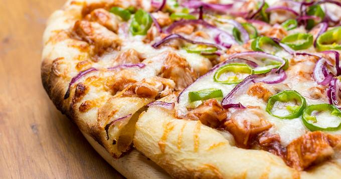 Pizza au Poulet et Fromage