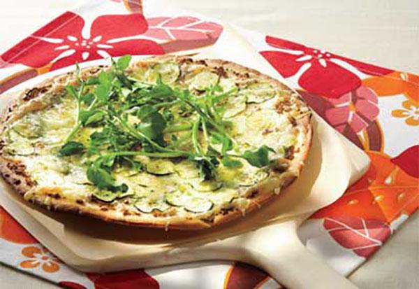 Pizza Barbecue aux Courgettes et Variante aux 3 Poivrons