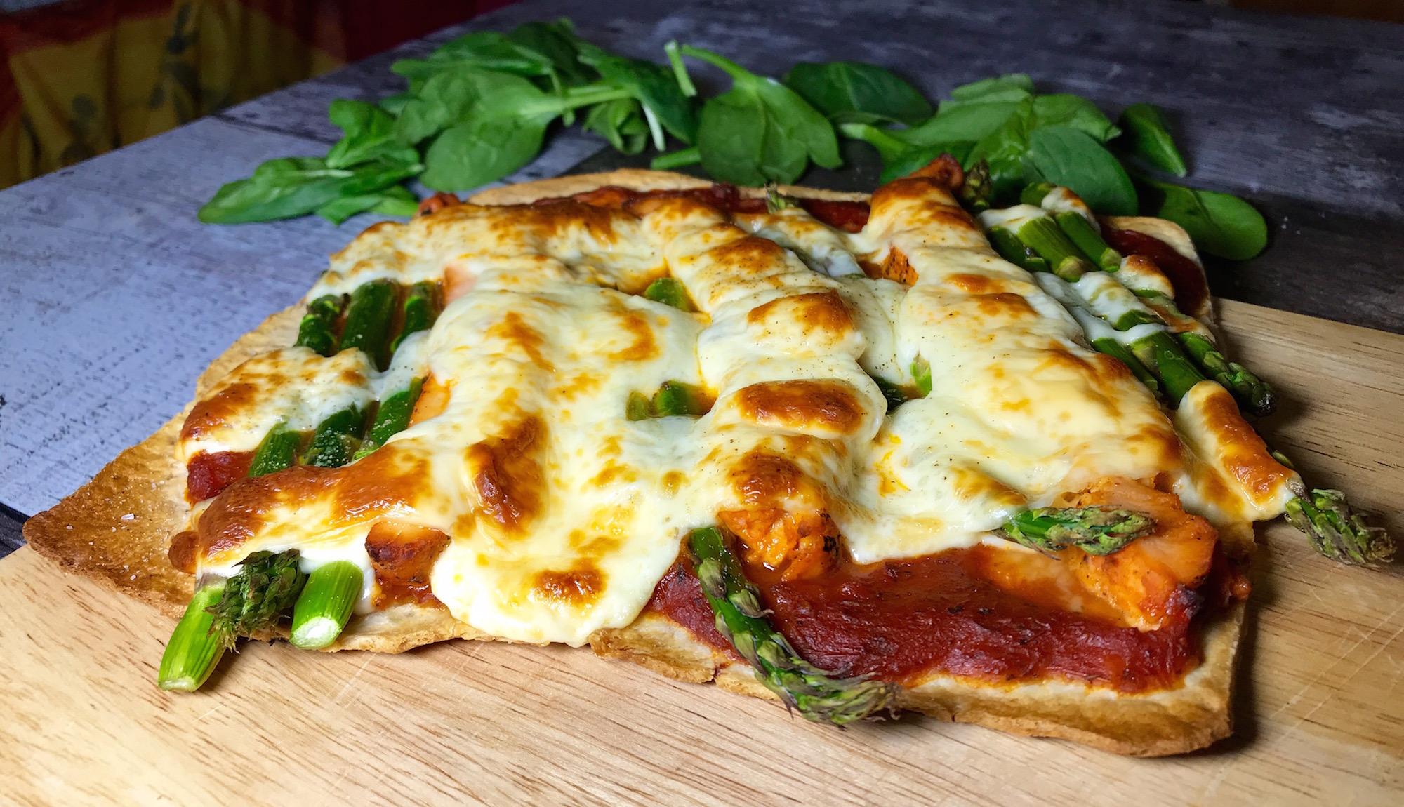 Pizza Mince Poulet et Asperges