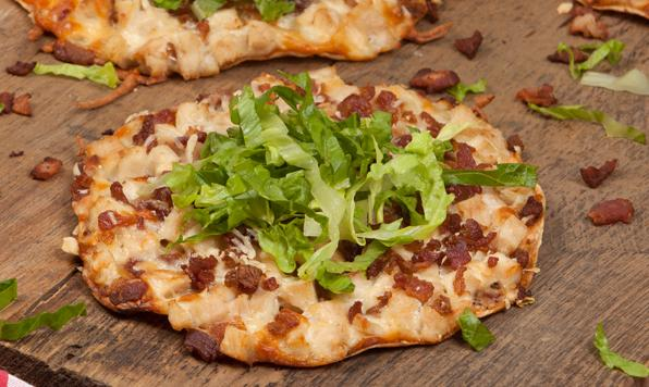 Pizzas-Tortillas au Poulet César
