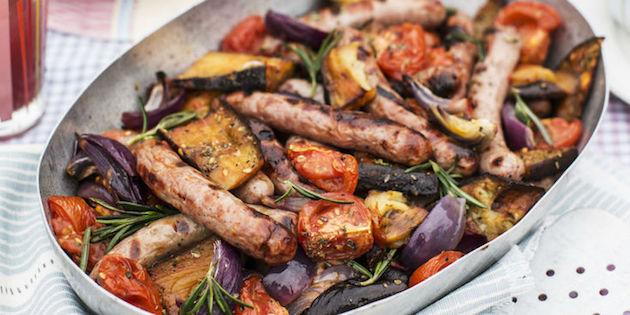 Poêlée de Légumes aux Merguez et Chipolatas