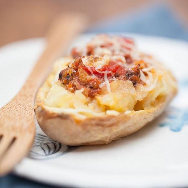Pommes de Terre au Four Farcies aux Sardines et à la Tomate