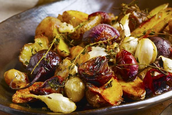 Photo Recette Pommes de Terre et Betteraves Rôties à L'ail et au Thym