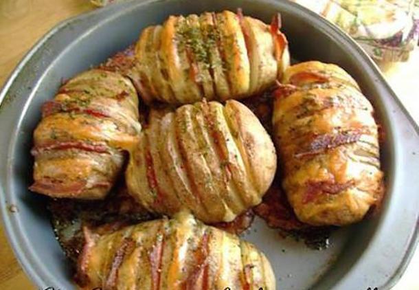 Pommes de Terre Papillon Cheddar-bacon