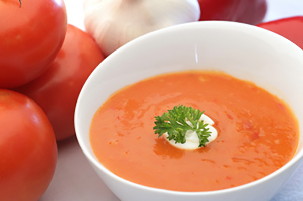 Potage de Tomates et de Poivrons Rouges