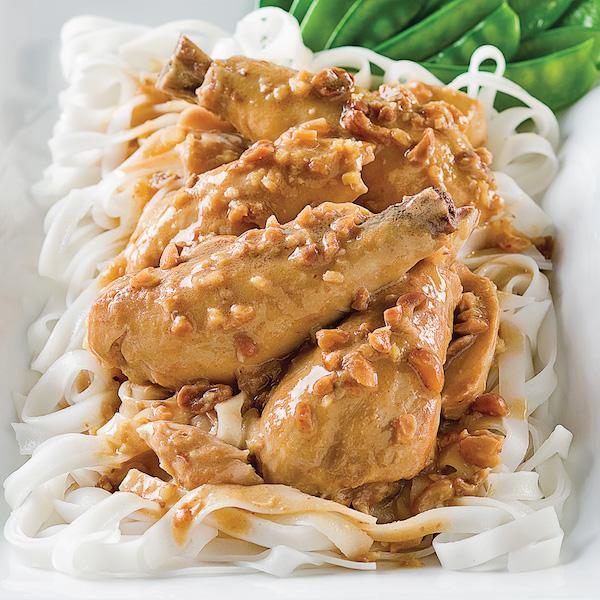 Poulet à la Thaï, Sauce aux Arachides