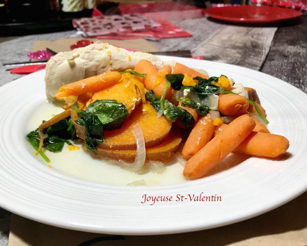 Poulet avec Légumes pour la St-Valentin