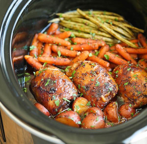 Photo Recette Poulet et Légumes dans une Sauce Miel et Ail à la Mijoteuse
