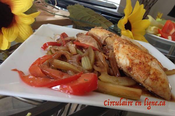 Poulet et Légumes Sauce Brune