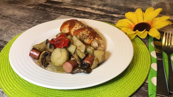 Poulet et Saucisses de Poulet Cuit au Four 4