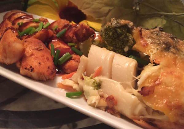 Poulet Mariné avec Gratin de Légumes
