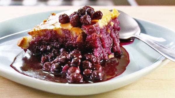 Pudding aux Bleuets