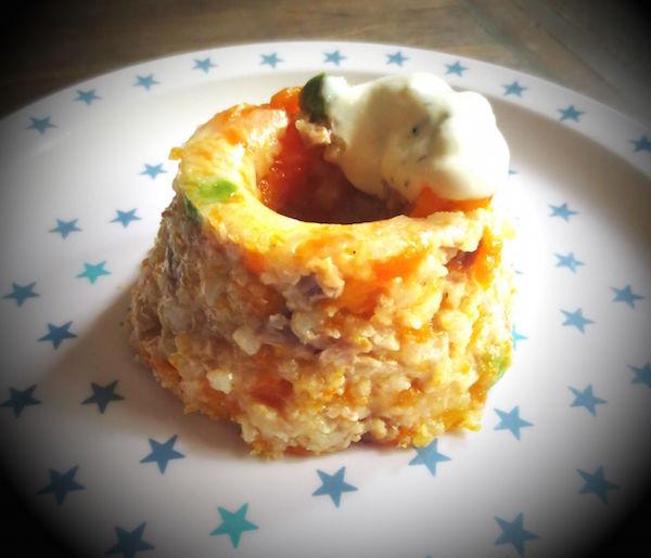 Pudding aux Légumes et Poulet Sauce au Yaourt