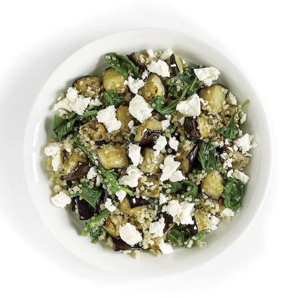 Photo Recette Quinoa à L'aubergine et aux Épinards