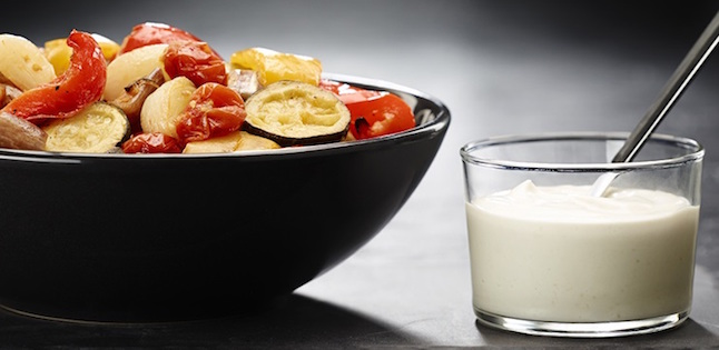 Photo Recette Ratatouille et Sauce à L'ail Rôti