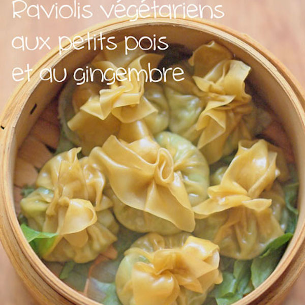 Raviolis Vapeur aux Petits Pois et au Gingembre (végé)