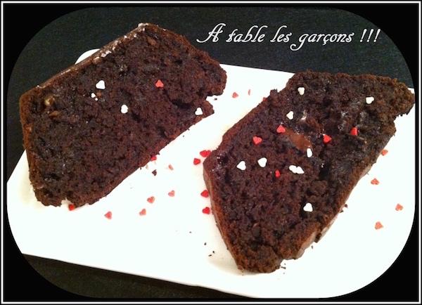 Recette Cake Chocolat et Courgettes