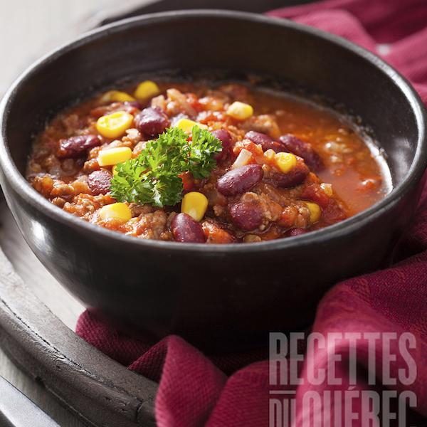 Photo Recette Chili Végétarien à la Mijoteuse